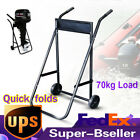 Outboard Motor Trolley Boat Engine 70kg Carrier Stand Transport Cart Quick folds