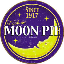 Tin Signs Moon Pie Round Logo Knife 1802 Nostalgic Embossed Tin Sign. Reproduced