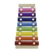 8-Note Colorful Xylophone Glockenspiel with Wooden Mallets Percussion A3Y4