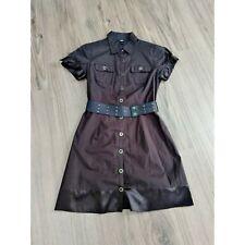 BCX button up dress with belt dress Brown size L