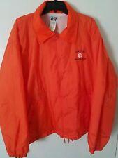 Clemson Tigers Track Jacket Adult XL Long Sleeve Snap Button Down ORANGE Retro