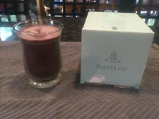 Partylite Slim Hurricane Jar Candle Mulberry Scented Candle New In Box