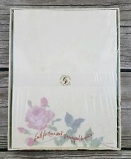 Vintage Sealed Creative Papers C R Gibson Sealed Stationary Roses