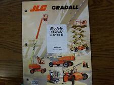 JLG Gradall 450A,450AJ Lift Parts Manual 2003