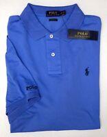 NWT $85 Polo Ralph Lauren Blue Mesh Shirt Mens S XL Short Sleeve Classic Fit