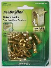 HILLMAN WallDriller 35 lb Brass Drywall Picture Mirror Hook Hanger 10 pk 122400