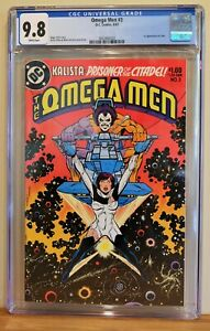 OMEGA MEN #3 CGC 9.8 - WHITE PAGES  *1st APPEARANCE OF LOBO*