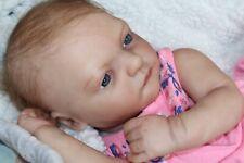 Reborn baby doll sweet newborn baby girl Julie with 3d skin OOAK