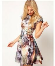Ted Baker Mecia dress Diamond Sequin print Skater Size 2 UK 10