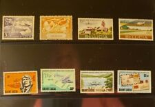 St Lucia Aircraft & Aviation Stamps Lot of 12 - MNH -See Details for List