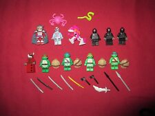 LEGO TMNT Turtles Ninja  Minifigure LOT Leonardo,Donatello,Michelangelo,Raphael