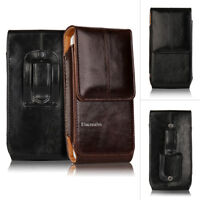 Vertical Leather Case Cover Belt Clip Holster Pouch For IPhone 7 6S Plus&Samsung
