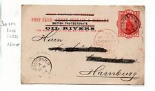 Nigeria Oil Rivers Prepaid Postcard used