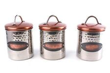 Copper Stainless Steel Kitchen Tea Coffee Sugar Canisters Storage Jar Containers