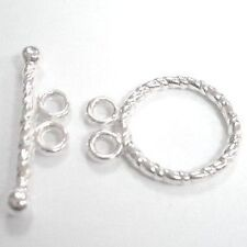 20 Sets Toggle Clasps 12x15mm - K6401 / Silver