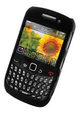 Negro Híbrido Shell Funda Rígida Para Blackberry 8520 Curve