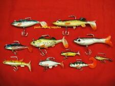 10 x Pike Fishing Assorted Shad Lures Soft Bait Fishing Shads