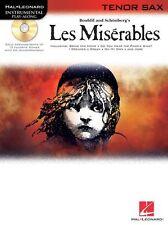 Les Miserables Mis Play-Along Tenor Sax Bring Him Home Saxophone Music Book & CD