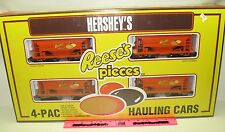 New K-Line Hershey's Reeses's Pieces 4-PAC hauling cars