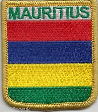 Mauritius Flag Shield Embroidered Patch Badge