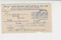 Lancashire Electric Light & Power Co. Ltd 1945 Barclays Cancel Receipt Ref 37164