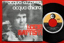 """LUCIO BATTISTI ACQUA AZZURRA/DIECI RAGAZZE 1969 UNIQUE RARE EXYU 7""""PS N/MINT"""