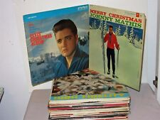 Lot 30 Vintage Christmas Music LP Records Various Artists Elvis Como Mathis