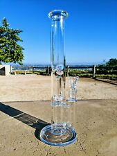 "12"" Double Perc Straight Bong Premium Quality Tobacco Smoking Water Pipe Rig"