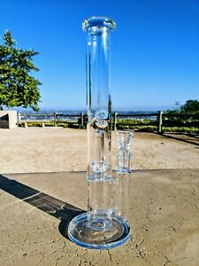 "12"" Double Perc Matrix Straight Bong Premium Quality Tobacco Smoking Water Pipe"