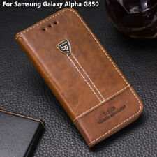 Leather Book Flip Phone Wallet Case Cover 4.7'' For Samsung Galaxy Alpha G850