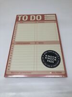 Knock Knock Pads To Do Pad, To Do List Notepad - Organizational Workbook Paper