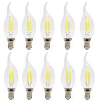 10X 4W E14 LED Filament Glühbirne Windstoß Kerze 280 Lumen Glühlampe Kaltweiß