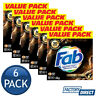 6 x FAB LAUNDRY POWDER FRONT & TOP LOADER PERFUME INDULGENCE GOLD ABSOLUTE 1.8kg