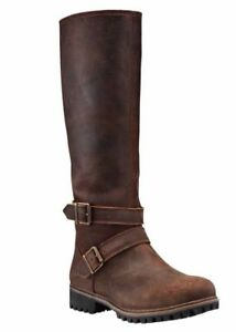 Timberland Women's Wheelwright Tall Buckle Waterproof Boots A15T3 Size:6.5
