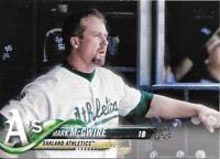 MARK McGWIRE 2018 Topps Update Short-Print SP Photo Variation #US259 ATHLETICS