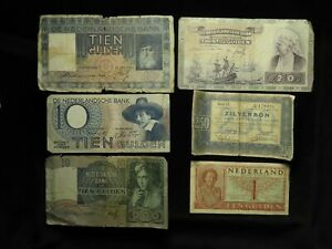 Netherlands Collection of 10x Banknotes 1930s-40s