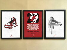"3pcs Solid frame - 005 Sneakers Air Jordan Shoes 12""x16"" Minimalist Poster Frame"