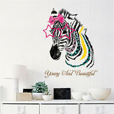Young Beautiful Zebra Home Room Decor Removable Wall Sticker Decal Decoration