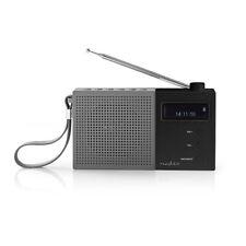 Portátil Negro/Gris recargable de digital DAB + FM 4.5w Radio Bolsillo Despertador