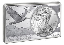 1 OZ + 2 OZ ARGENTO BAR 30 anni Anniversary SILVER EAGLE Coin Set USA 2016