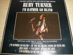 Ruby Turner I'd Rather Go Blind Special Five Track Version 1986 Jive RT CD1