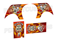 C-103 FOR HOT WHEELS CUSTOM 3D-LIVERY ROUTE 666 WATERSLIDE DECAL SET 1:64