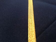 5 Yards-Gold Military Braid,Galon Uniform,Army,Navy,Vestment Trim, 7mm Wide
