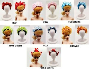 BARBIE DOLL FASHION FLOWER HEADBANDS HATS ACCESSORIES FOR BARBIE CLOTHES