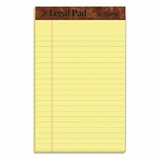 """TOPS The Legal Pad Writing Pads 5"""" x 8"""" Jr. Legal Rule Canary Paper 50 Sheets..."""