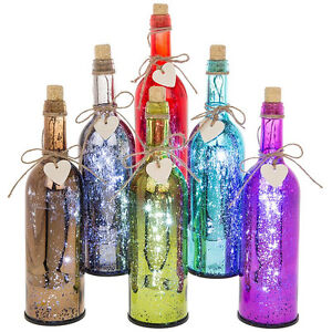 LED Firefly Mercury Bottle By Shudehill Giftware Choice of Colours #61803