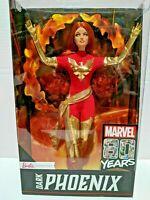 Marvel 80th Anniversary Dark Phoenix Jean Grey Barbie Signature Doll - Brand New