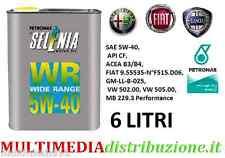 6 LITRI LT OLIO MOTORE SELENIA WR 5W40 DIESEL  ORIGINALE FIAT ALFA ROMEO LANCIA