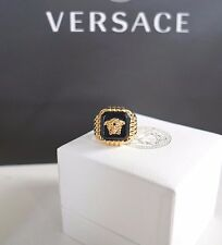 NIB Authentic VERSACE Iconic MEDUSA HEAD Gold-Toned STATEMENT Ring IT-23 US-10