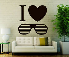 Sunglasses Wall Decals Love Decal Vinyl Sticker Beauty Salon Home Decor CC18